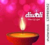 happy diwali creative design...   Shutterstock .eps vector #1209885652