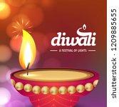 happy diwali creative design...   Shutterstock .eps vector #1209885655