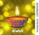 diwali design with green...   Shutterstock .eps vector #1209885658