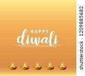 diwali design with yellow...   Shutterstock .eps vector #1209885682