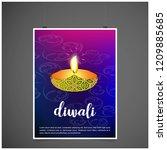 diwali design with purple...   Shutterstock .eps vector #1209885685