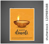 diwali design yellow background ...   Shutterstock .eps vector #1209885688