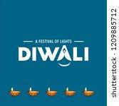 happy diwali creative design...   Shutterstock .eps vector #1209885712