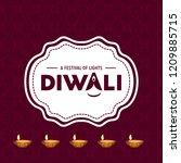 happy diwali creative design...   Shutterstock .eps vector #1209885715