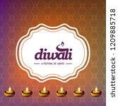 diwali design with pink...   Shutterstock .eps vector #1209885718