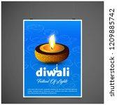 happy diwali creative design...   Shutterstock .eps vector #1209885742