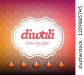 diwali design with pink...   Shutterstock .eps vector #1209885745