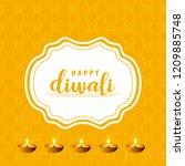 diwali design with yellow...   Shutterstock .eps vector #1209885748