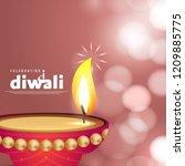 diwali design with pink...   Shutterstock .eps vector #1209885775