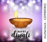 diwali design purple background ...   Shutterstock .eps vector #1209885802