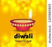 diwali design with yellow...   Shutterstock .eps vector #1209885805