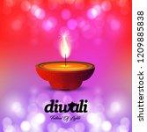 diwali design with pink...   Shutterstock .eps vector #1209885838