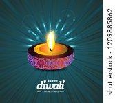 happy diwali creative design...   Shutterstock .eps vector #1209885862