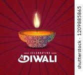 happy diwali creative design...   Shutterstock .eps vector #1209885865