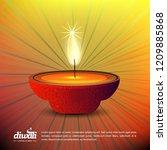 diwali design with yellow...   Shutterstock .eps vector #1209885868