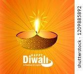 diwali design with yellow...   Shutterstock .eps vector #1209885892