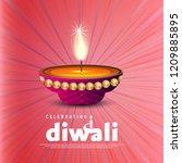 happy diwali creative design...   Shutterstock .eps vector #1209885895