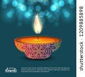 happy diwali creative design...   Shutterstock .eps vector #1209885898