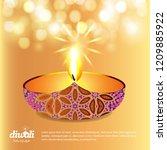 diwali design yellow background ...   Shutterstock .eps vector #1209885922