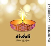 diwali design yellow background ...   Shutterstock .eps vector #1209885925