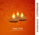 abstract stylish happy diwali...   Shutterstock .eps vector #1209886468
