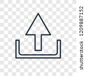 upload concept vector linear... | Shutterstock .eps vector #1209887152