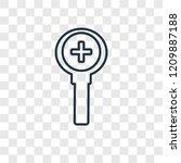 zoom concept vector linear icon ...
