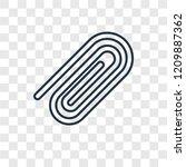 clip concept vector linear icon ...