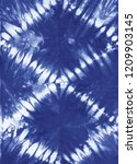 abstract tie dyed fabric of... | Shutterstock . vector #1209903145