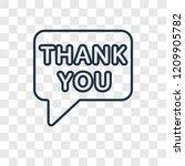 thank you concept vector linear ... | Shutterstock .eps vector #1209905782