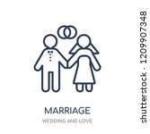 marriage icon. marriage linear...   Shutterstock .eps vector #1209907348