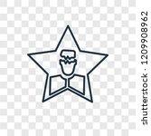 celebrity concept vector linear ... | Shutterstock .eps vector #1209908962