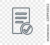 list concept vector linear icon ...