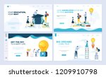 set of landing page template... | Shutterstock .eps vector #1209910798