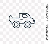 pickup truck vector outline... | Shutterstock .eps vector #1209919288