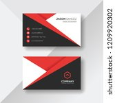 creative business card with red ... | Shutterstock .eps vector #1209920302