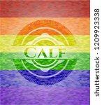 calf lgbt colors emblem  | Shutterstock .eps vector #1209923338