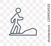 jogging vector outline icon... | Shutterstock .eps vector #1209924535