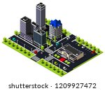 isometric city quarter includes ... | Shutterstock .eps vector #1209927472