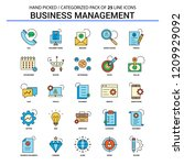 business management flat line... | Shutterstock .eps vector #1209929092