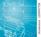 blueprint  scheme  plan  sketch....   Shutterstock .eps vector #1209947728