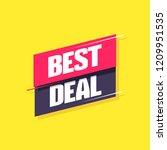 best deal label | Shutterstock .eps vector #1209951535