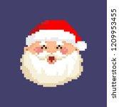 santa claus christmas pixel art | Shutterstock .eps vector #1209953455