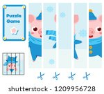 puzzle for toddlers. match... | Shutterstock .eps vector #1209956728