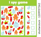 i spy game for toddlers. find... | Shutterstock .eps vector #1209957262
