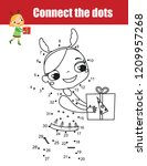 connect the dots children... | Shutterstock .eps vector #1209957268