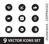 choice icon. collection of 9... | Shutterstock .eps vector #1209964162