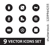 roll icon. collection of 9 roll ... | Shutterstock .eps vector #1209964255