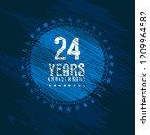 grunge 24 years anniversary...   Shutterstock .eps vector #1209964582