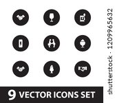 shake icon. collection of 9... | Shutterstock .eps vector #1209965632